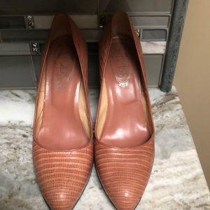 TOD's leather pumps light pink 41 Euro block heel